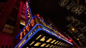 Radio City Music Hall at night