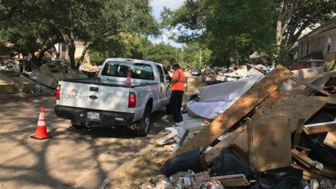 Comcast Technicians Bring Houston Some California Love