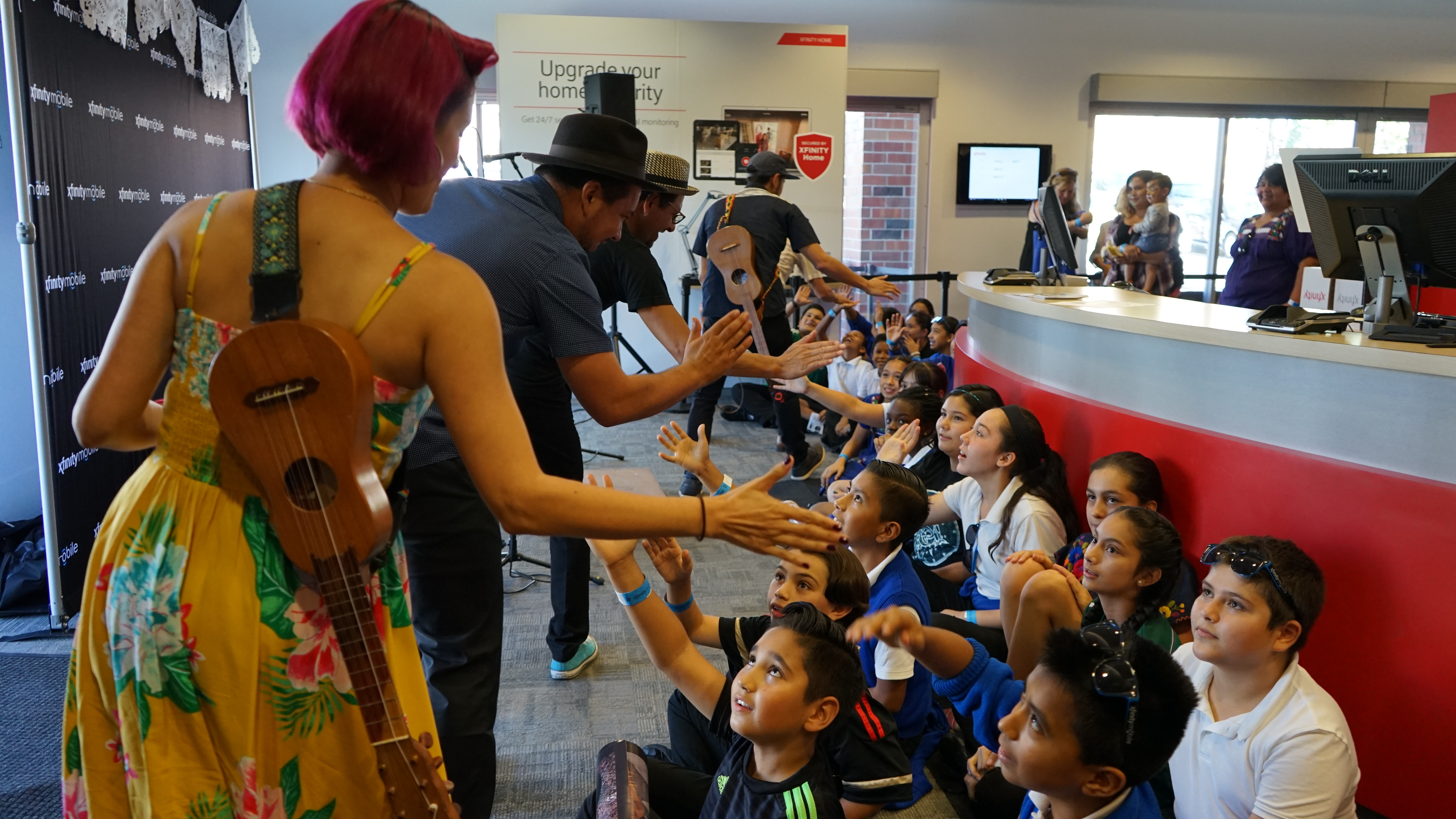 Free concerts and meet and greets with las cafeteras draw hundreds free concerts and meet and greets with las cafeteras draw hundreds of fans to three xfinity stores in california m4hsunfo