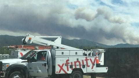 Comcast Technicians Assist Fire Relief Efforts in Mendocino County