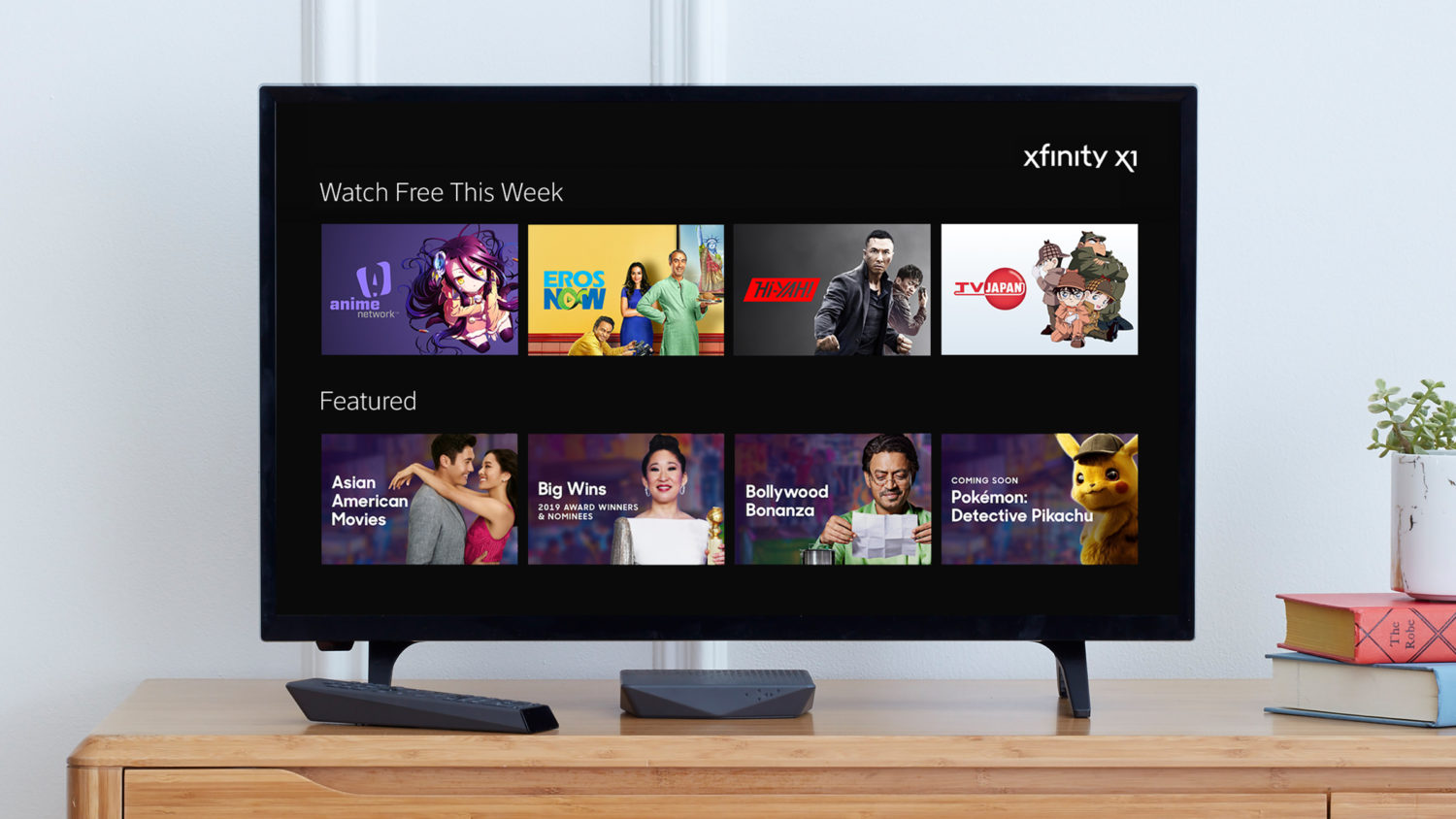 Xfinity X1 tv display