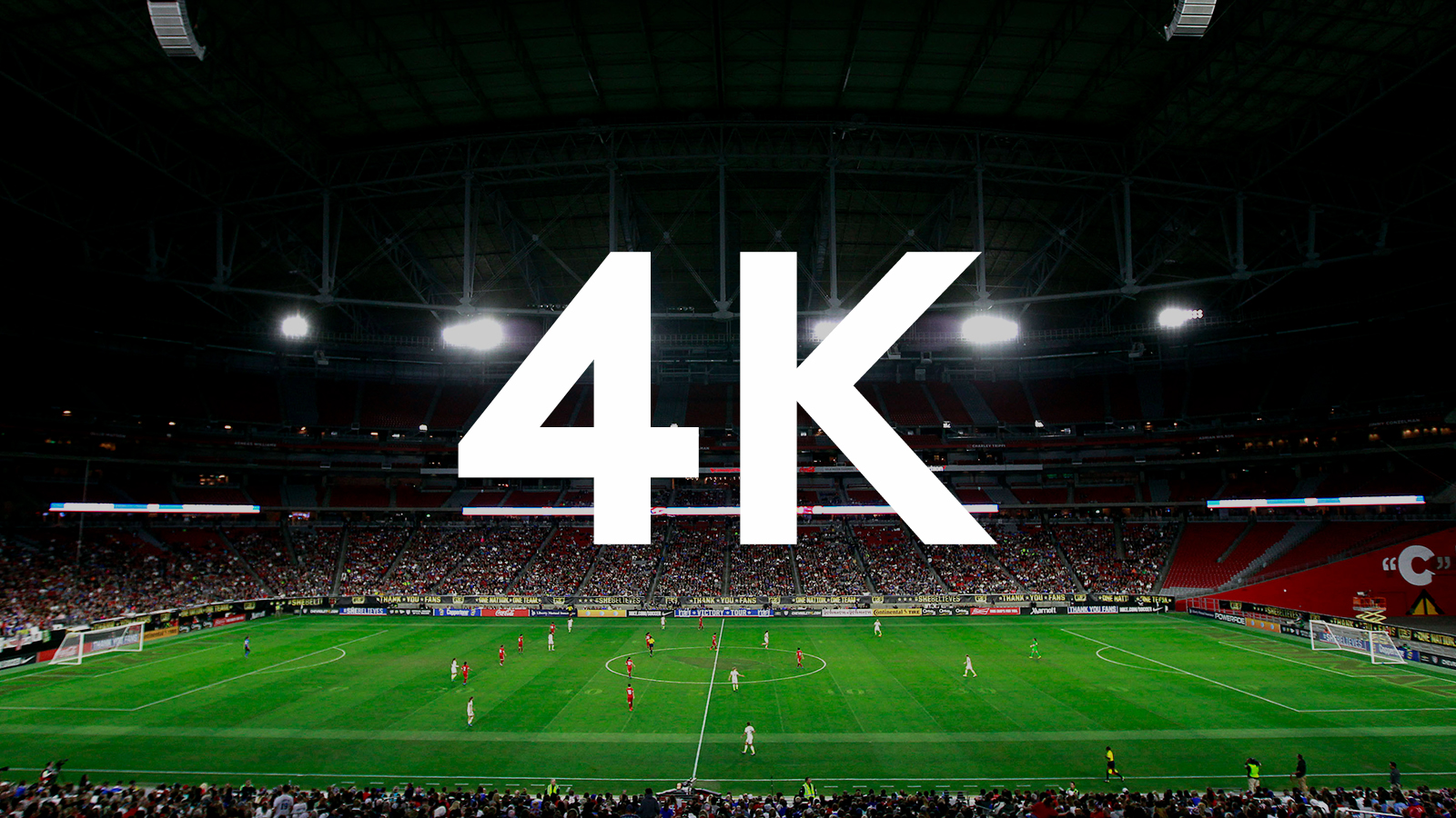 4K image with a soccer field as the backdrop photo