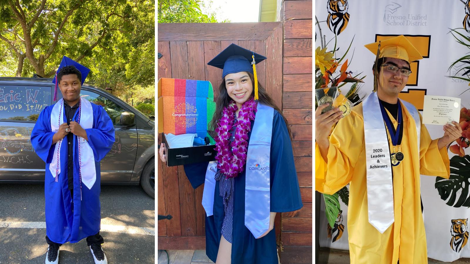 Three Leaders and Achievers scholarship winners